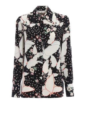 Valentino: shirts - Butterfly print silk shirt