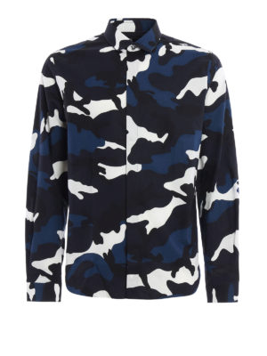 Valentino: shirts - Camu print cotton shirt