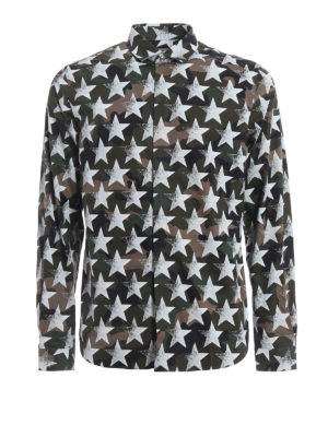 Valentino: shirts - Camustars coated cotton shirt