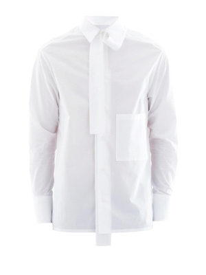Valentino: shirts - Cotton shirt with patch pocket