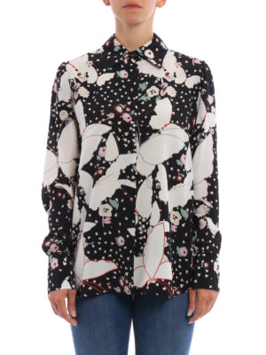 Valentino: shirts online - Butterfly print silk shirt