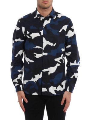 Valentino: shirts online - Camu print cotton shirt