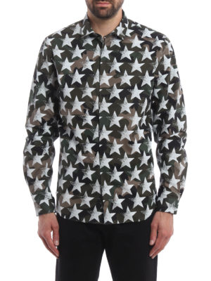 Valentino: shirts online - Camustars coated cotton shirt
