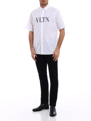 Valentino: shirts online - VLTN print short sleeved shirt