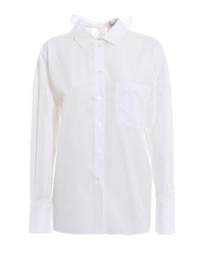 VALENTINO: camicie - Camicia VLTN in popeline con fiocco