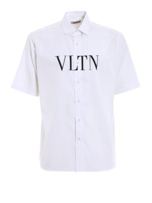 Valentino: shirts - VLTN print short sleeved shirt