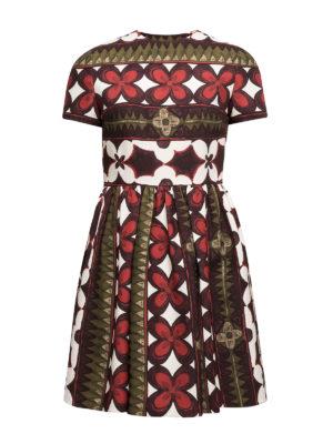 Valentino: short dresses - Floral silk blend dress