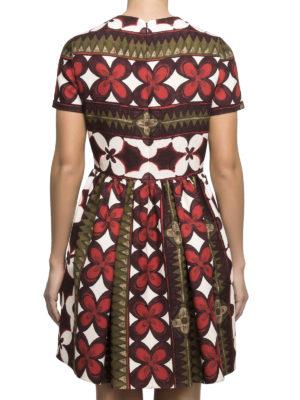 Valentino: short dresses online - Floral silk blend dress