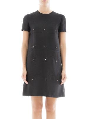 Valentino: short dresses online - Rockstud wool and silk mini dress
