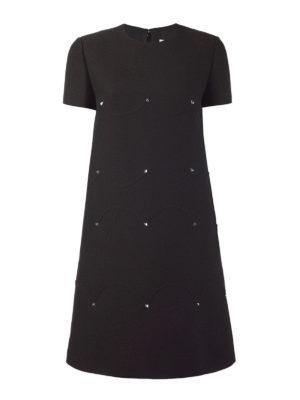 Valentino: short dresses - Rockstud wool and silk mini dress