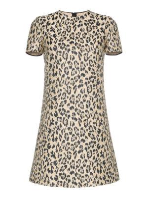 VALENTINO: abiti corti - Abito Wild Leopard in broccato