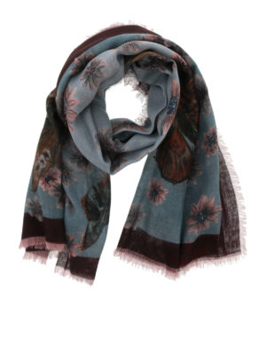 Valentino: Stoles & Shawls - Cashmere and silk printed shawl