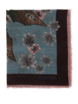 Valentino: Stoles & Shawls online - Cashmere and silk printed shawl