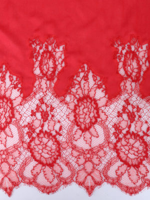 Valentino: Stoles & Shawls online - Lace inserts modal and silk shawl
