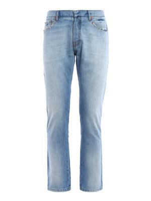 Valentino: straight leg jeans - 06. Rockstud Untitled