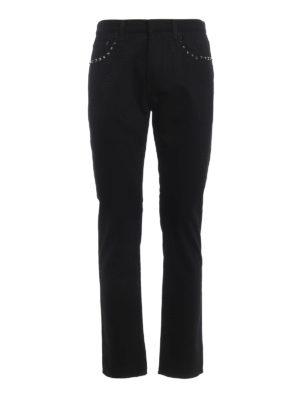 Valentino: straight leg jeans - 06. Rockstud Untitled jeans