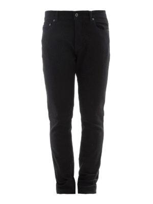 Valentino: straight leg jeans - Black denim five pocket jeans