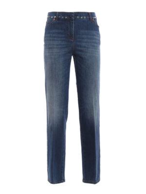 Valentino: straight leg jeans - N.06 Rockstud Untitled jeans