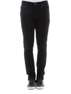 Valentino: straight leg jeans online - Black denim five pocket jeans