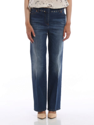Valentino: straight leg jeans online - N.06 Rockstud Untitled jeans