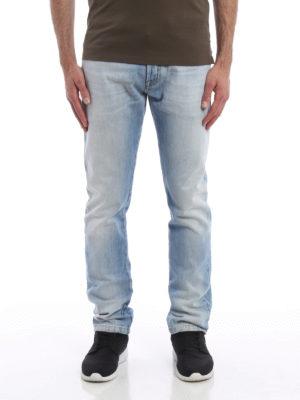 Valentino: straight leg jeans online - Stone wash denim jeans