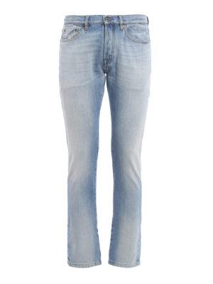 Valentino: straight leg jeans - Stone wash denim jeans
