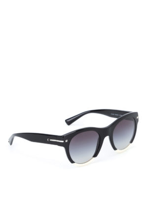 Valentino: sunglasses - Black and white acetate sunglasses