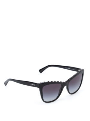 Valentino: sunglasses - Cat-eye stud embellished sunglasses