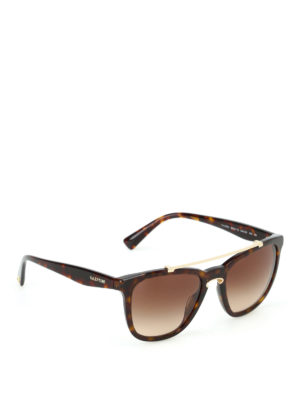 Valentino: sunglasses - Double bridge tortoise sunglasses