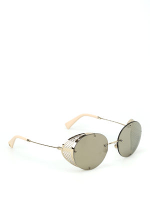 Valentino: sunglasses - Golden light metal sunglasses
