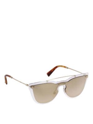 VALENTINO: occhiali da sole - Occhiali in fibra di nylon lente su lente