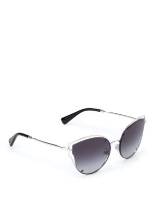 Valentino: sunglasses - Metallic framed shaded sunglasses