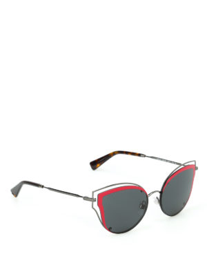 Valentino: sunglasses - Metallic red detail sunglasses