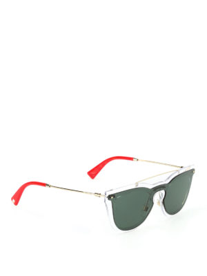 Valentino: sunglasses - Nylon fibre green lenses sunglasses