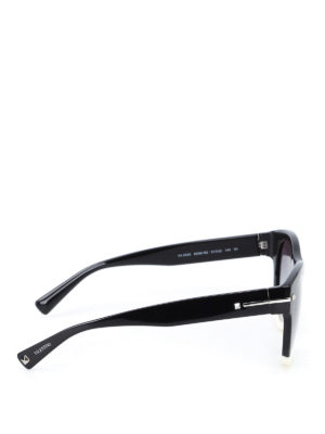 Valentino: sunglasses online - Black and white acetate sunglasses