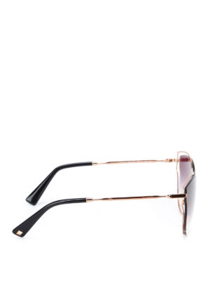 Valentino: sunglasses online - Gold metallic framed sunglasses
