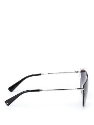 Valentino: sunglasses online - Metallic framed shaded sunglasses