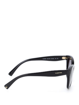 Valentino: sunglasses online - Polished black sunglasses