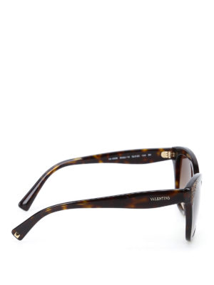 Valentino: sunglasses online - Tortoiseshell brown sunglasses