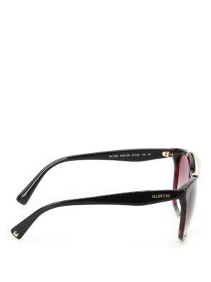 Valentino: sunglasses online - Violet tortoise acetate sunglasses