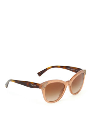Valentino: sunglasses - Polished vintage pink sunglasses