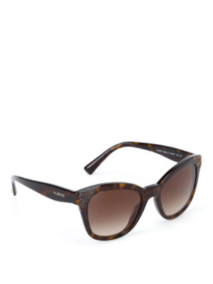 Valentino: sunglasses - Tortoiseshell brown sunglasses