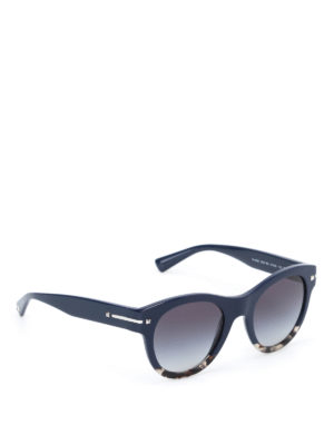Valentino: sunglasses - Two-tone acetate round sunglasses