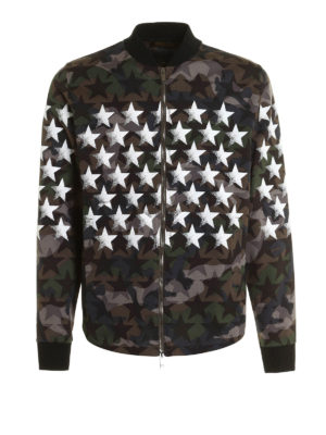 Valentino: Sweatshirts & Sweaters - Bomber-inspired jersey sweatshirt