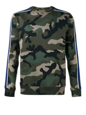Valentino: Sweatshirts & Sweaters - Camu cotton sweatshirt