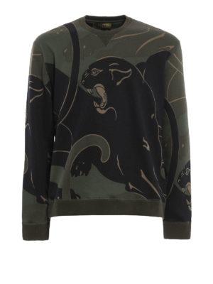 Valentino: Sweatshirts & Sweaters - Camu Panther printed sweatshirt