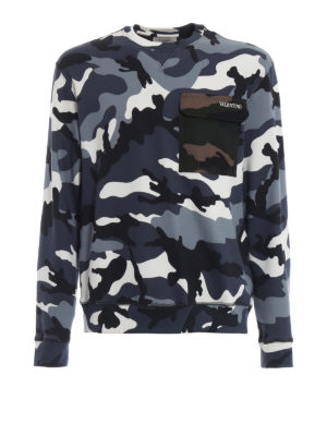 VALENTINO: Felpe e maglie - Felpa camouflage con tasca applicata