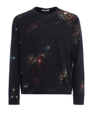 Valentino: Sweatshirts & Sweaters - Fireworks print cotton sweatshirt