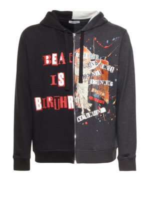 Valentino: Sweatshirts & Sweaters - Jamie Reid print two-face hoodie