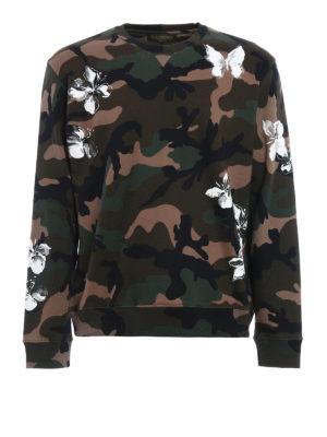 Valentino: Sweatshirts & Sweaters - Mariposa cotton sweatshirt